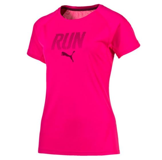 Puma Women's Run Tee (Pink)
