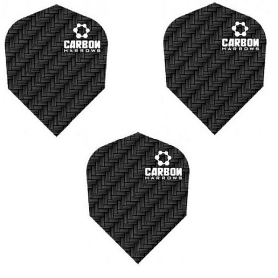 Harrows Black Carbon Dart Flights