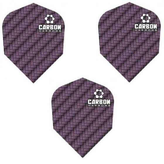 Harrows Purple Carbon Dart Flights
