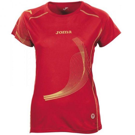 Joma Girls (Kids) Elite II Running Top (Red)