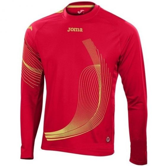 Joma Boys Elite II Long Sleeve Running Top (Red)