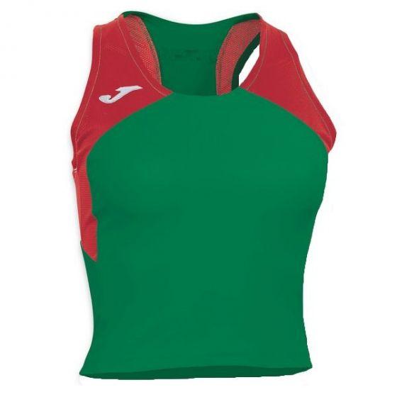 Joma Women's Record II Running Vest (Green)