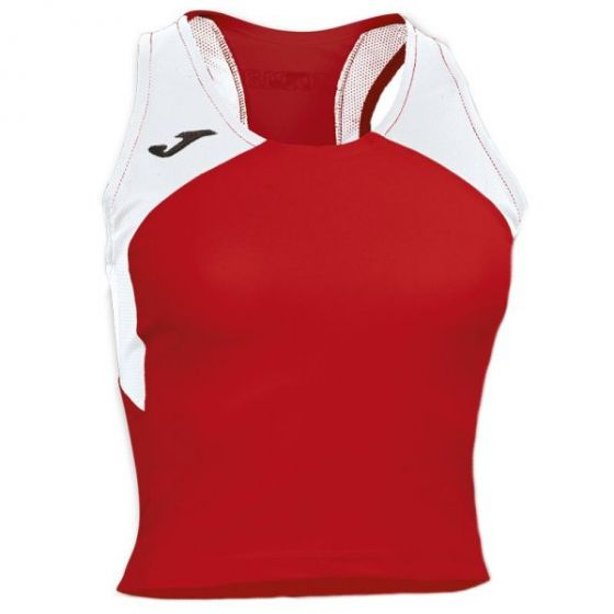 Joma Women's Record II Running Vest (Red/White)