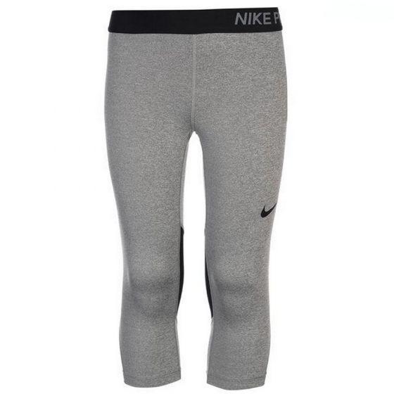 Nike Pro Grey Capri Leggings (Girls)