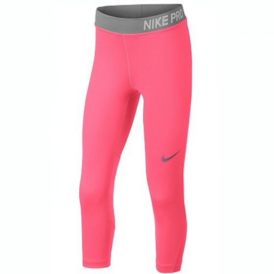 Nike Pro Pink Capri Leggings (Girls)