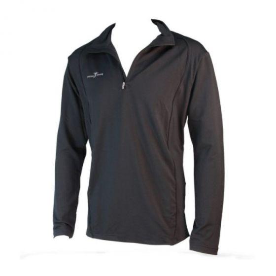 Precision Long Sleeve 1/4 Zip Running Top (Black)