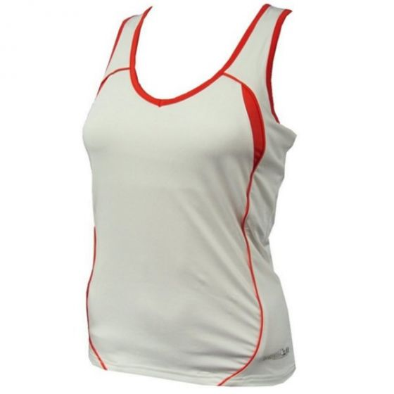 Precision Ladies Running Vest (White/Orange)