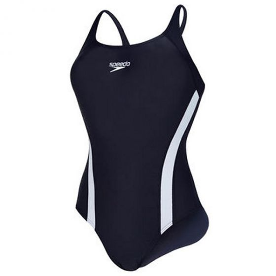 Speedo Fluidfuse Swimming Costume (Navy)