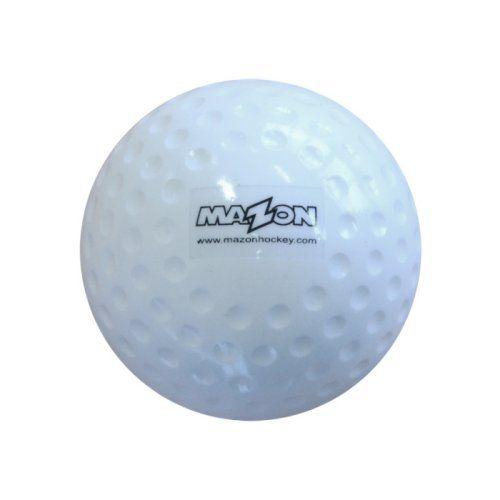Mazon Club Dimpled Hockey Balls (White) x 12