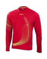 Joma Boys Elite II Long Sleeve Running Top (Red)
