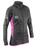 Optimum Ladies Cycling Rain Jacket (Black/Pink)