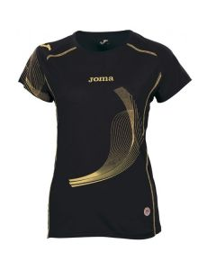 Joma Girls (Kids) Elite II Running Top (Black)