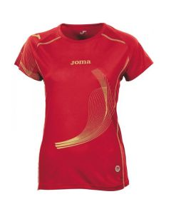 Joma Girls (Kids) Elite II Running Top (Red)