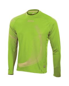 Joma Boys Elite II Long Sleeve Running Top (Green)