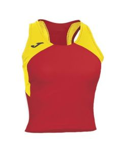Joma Women's Record II Running Vest (Red/Yellow)