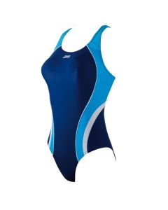 Katherine Actionback Swimming Costume (Navy/Blue/White)