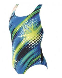 Maru Polka Pacer Hydro Swimsuit (Blue/Green)