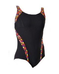 Maru Zazou Pacer Panel Swimsuit (Black/Neon)