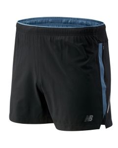 New Balance Men's Black/Blue Impact 5inch Shorts