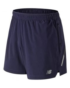 New Balance Men's Navy Impact 5 Inch Shorts