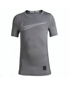 Nike Pro Grey Short-Sleeve Training Top (Kids)