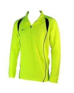 Precision Long Sleeve 1/4 Zip Running Top (Yellow)