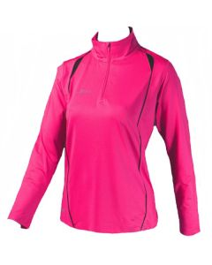 Precision Ladies Long Sleeve 1/4 Zip Top (Pink)