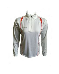 Precision Ladies Long Sleeve 1/4 Zip Top (White)