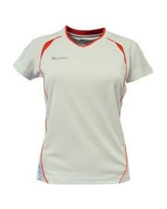 Precision Ladies Short-sleeved Running Shirt (White/Orange)