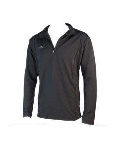 Precision Long Sleeve 1/4 Zip Running Top (Black)