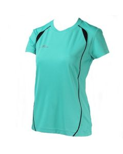 Precision Ladies Running Shirt (Turquoise/Black)