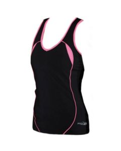 Precision Ladies Running Vest (Black/Pink)