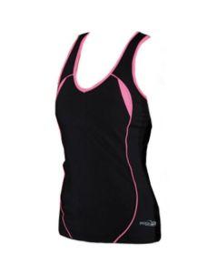 Precision Ladies Running Vest (Black/Pink)