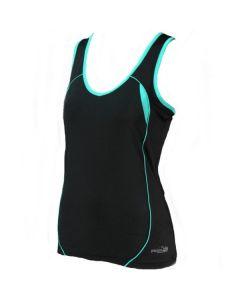 Precision Ladies Running Vest (Black/Turquoise)