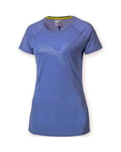Puma Women's Running Core Run Logo T-shirt (Blue)