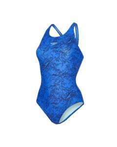 Speedo Ladies Boom Muscleback Swimsuit (Blue)