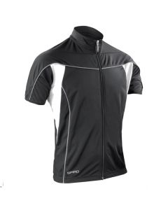 Spiro Bikewear Full Zip Performance Top (Black)