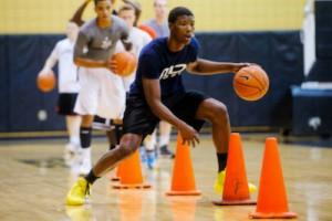basketball-skill-drills-for-kids-cone-dribbling