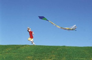 Fun with the Whole Family- Fly a Kite Child