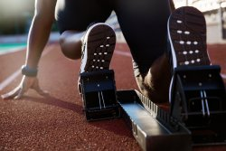 short distance track and field events blocks