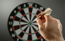 darts game or sport throwing