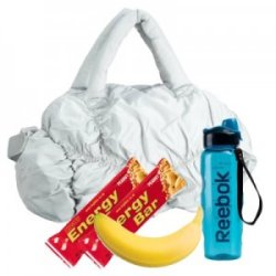 gym bag essentials water snacks