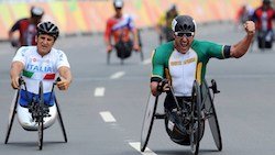 Paralympic Cycling Hand Cyclist