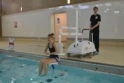 Physical Exercise for the Disabled Pool Hoist