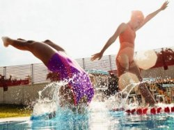 teach kids to swim diving