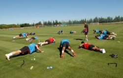 train like a professional footballer group exercise