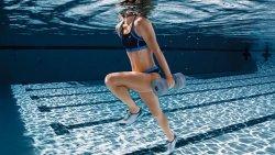 underwater weight lifting part under