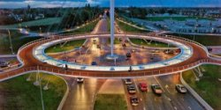 which country is most bicycle friendly floating roundabout