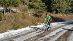 winter cycling cyclist outdoors